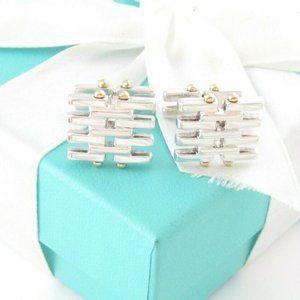Tiffany Gold Gate Cufflinks - 925 Silver